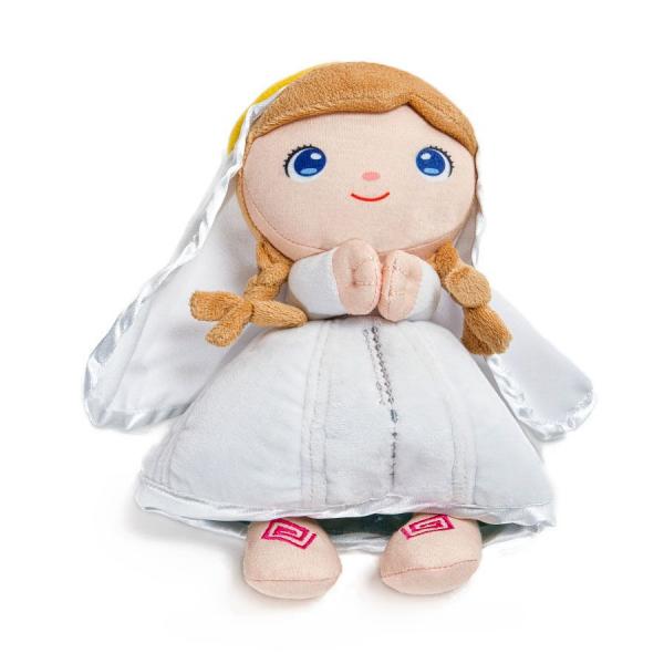 Peluche virgen María blanca