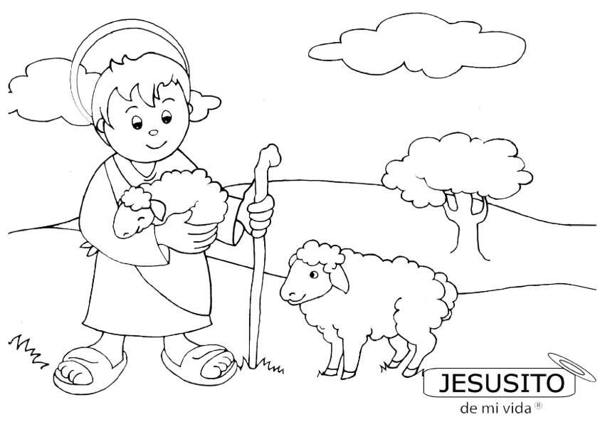 Jesusito para pintar